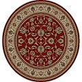 Ariana Palace Red Area Rug (5' 3 Round)