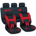 Red 17-piece Car Seat Cover Automotive Set