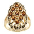 City by City City Style Gold and Chocolate Crystal Cluster Ring