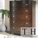 Tribecca Home Cumbria Retro Modern Curved Front 5-drawerChest