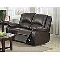 Patricia Dark Brown Dual Reclining Loveseat