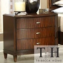 Tribecca Home Cumbria Retro Modern Curved Front 3-drawer Nightstand