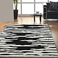 Jovi Home Proximity Hand-tufted Black/ White Wool Rug (4' x 6')
