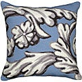 Blue Scroll Needlepoint Pillow