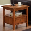 Norfolk Honey Brown End Table