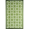 Woven B.B. Begonia &#39;Bali&#39; Green Recycled Mat (4&#39; x 6&#39;)
