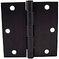 GlideRite 3.5-inch Square Corner Oil Rubbed Bronze Door Hinges (Pack of 12)