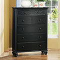 Piston Black Modern Cottage 5-drawer Chest