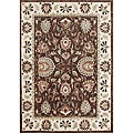 Taj Mahal Handmade Ivory Wool Rug (9&#39; x 12&#39;)