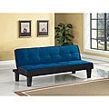 Hamar Blue Finish Adjustable Sofa