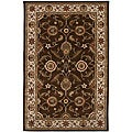 Hand-tufted Brown/ Red Wool Rug (4' x 16')