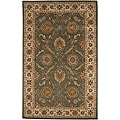 Hand-tufted TRC-166M Green Wool Rug (8' Round)
