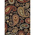 Infinity Black Area Rug (2&#39;7 x 7&#39;3)