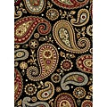 Infinity Black Area Rug (5&#39;3 x 7&#39;3)
