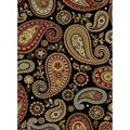 Infinity Black Area Rug (7&#39;10 x 10&#39;3)
