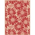 Garden Town Red Area Rug (5&#39; x 7&#39;3)