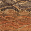 Alliyah Handmade Multi Abstract New Zealand Blend Wool Rug (10&#39; x 10&#39;)