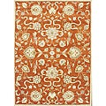 Alliyah Handmade Rusty Orange New Zealand Blend Wool Rug (6&#39; x 9&#39;)