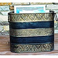 Hammered Brass Finish Magazine Storage Rack (India)