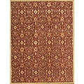 Alliyah Handmade Burgundy New Zealand Blend Wool Rug (9&#39; x 12&#39;)