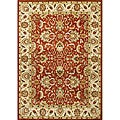 Alliyah Hand Made Soft Red New Zeeland Wool Rug (5' x 8')