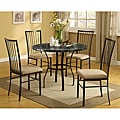 Darell Black Faux Marble Top 5-piece Pack Dining Set