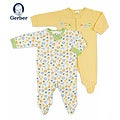 Gerber Unisex Zip Front Sleep &#39;n Play (Pack of 2)