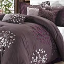 Cheila Plum 8-piece Comforter Set