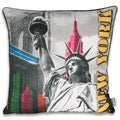 Neon NY City 20x20-inch Pillow