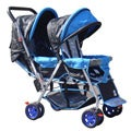 BeBeLove Tandem Stroller in Blue