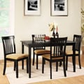 Wilmington Black Mission Back Cushioned 5-piece Dining Set