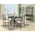 Val 5 Piece Black Faux Marble Top Pack Dining Set