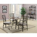 Val 5 Piece White Faux Marble Top Dining Set