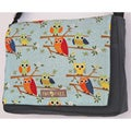 Two Tree Designs Owls Perched on a Branch Handmade Messenger Bag