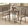 Cappuccino Marble/ Bronze Metal 3-piece Bistro Set