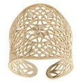 10k Yellow Gold Monte Crista Collection Filigree Adjustable Cigar Band Ring