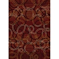Contemporary Red Heat Set Rug (7'8 x 10'4)