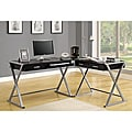 Hollow-core 3-piece Black Corner Desk