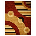 Pat Abstract Red Rug (3&#39;3 X 4&#39;6)