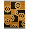 Pat Abstract Black Rug (3&#39;3 x 4&#39;6)