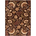 Elegance Collection Brown Area Rug (5&#39; x 7&#39;)