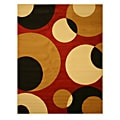 Pat Abstract Red Rug (3'3 x 4'6)