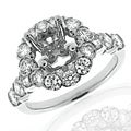 14k White Gold 1 2/5ct TDW Diamond Semi-mount Engagement Ring (G-H, SI1/SI2)