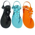 I-Comfort Women's Flower Jelly Sandals