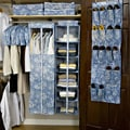 13 Piece Floral Blue Garment Bag Set