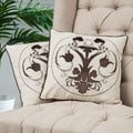 Christopher Knight Home Black Embroidered Pillows (Set of 2)