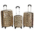 Rockland Designer Leopard 3-piece Lightweight Hardside Spinner Luggage Set