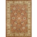 Handmade TajMahal Orange Wool Rug (8' x 10')