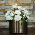 Antique Brass Finish Iron Planter (India)