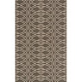 Power-Loomed Soho Chic Grey Wool Rug (2'0 x 3'0)